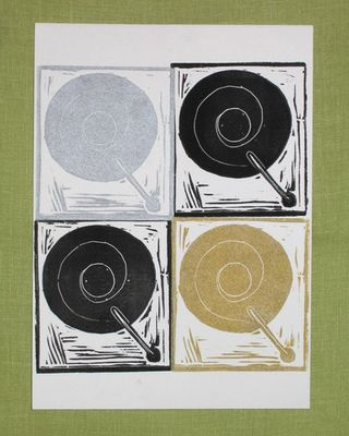 Record player print